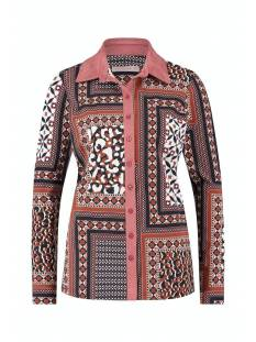 Studio Anneloes Poppy patchwork shirt 05480 Blouse 2390 cinnamon/black