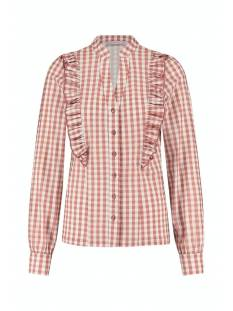 Studio Anneloes Colette small check blouse 05475 Blouse 1154 off white/dusty rose
