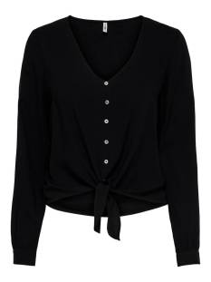 Only Blouse Only ONLNINA LIFE L/S TIE SHIRT NOOS Blouse black 15225522