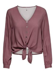 Only Blouse Only ONLNINA LIFE L/S TIE SHIRT NOOS Blouse apple butter 15225522