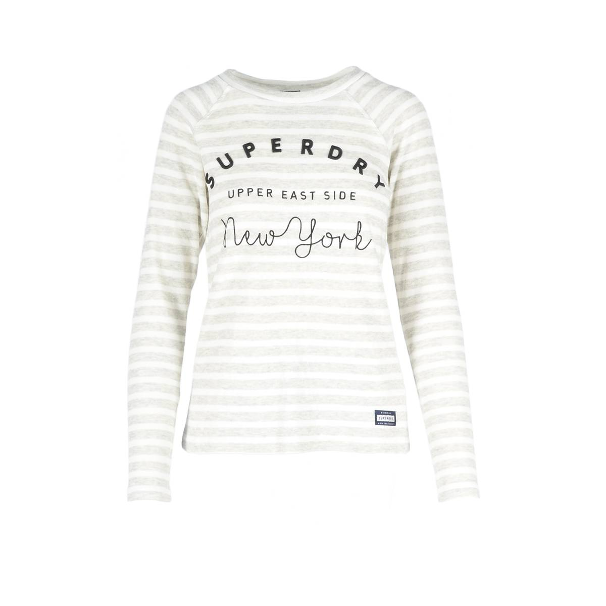 Superdry G60001PQ APPLIQUE RAGLAN TOP Grijs