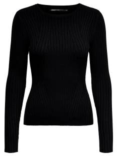 Only  Only ONLNATALIA L/S RIB PULLOVER KNT Trui black 15169458