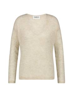Simple  Simple VINCE ALPACA-ALTEA-01 Trui off white