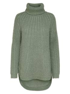 Only  Only ONLMELLA L/S LONG PULLOVER KNT Trui hedge green 15216405