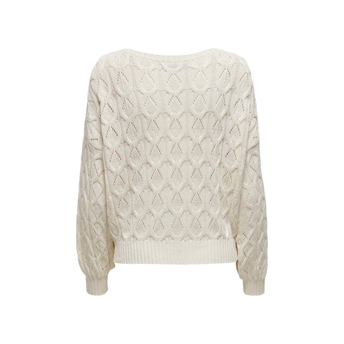 Only ONLBRYNN LIFE STRUCTURE L/S PUL Wit