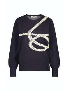 Studio Anneloes  Studio Anneloes Sally cable pullover 05193 Trui 6900 dark blue