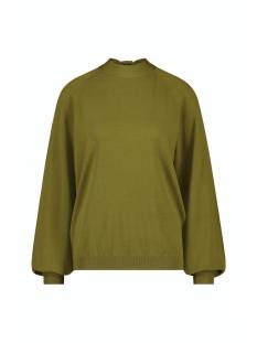Studio Anneloes  Studio Anneloes Mirelle bowtie pullover 05417 Trui 7300 olive green