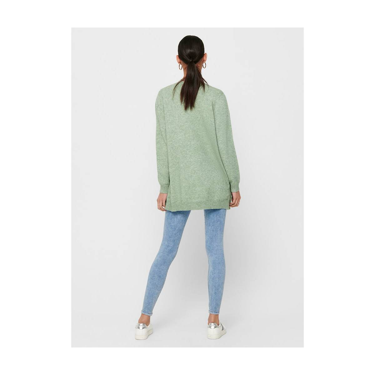Only ONLLESLY L/S OPEN CARDIGAN KNT Groen