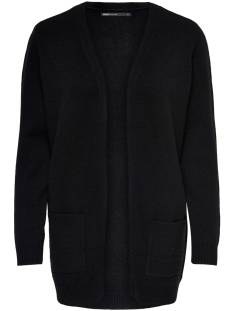 Only  Only ONLLESLY L/S OPEN CARDIGAN KNT Vest black 15174274