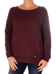 Vero Moda VMLISA LACE LS LONG TOP SWT Sweater decadent chocolate