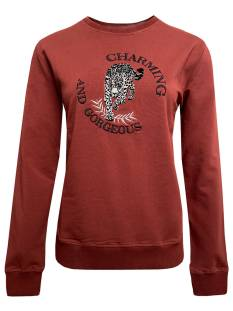 Elvira  Elvira E4 20-048 SWEATER TIGER Sweater 758 cognac