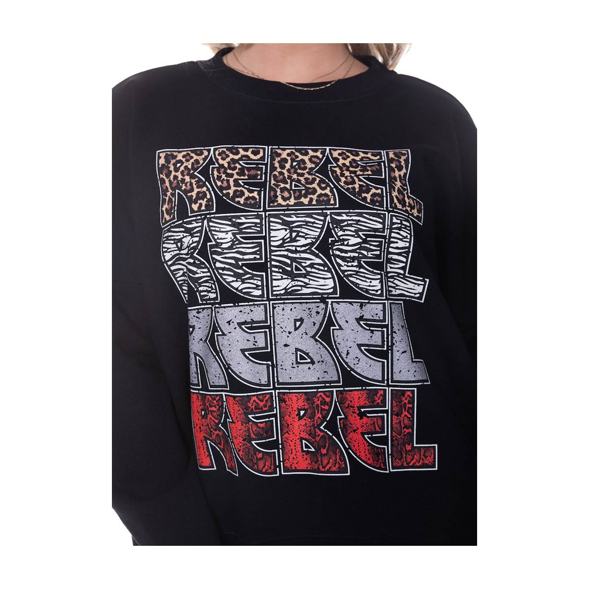 Colourful Rebel 9258 REBEL DROPPED SHOULDER Zwart