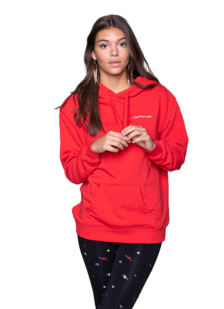 Colourful Rebel dames Sweaters 10117 BOHEMIAN RIDERS OVERSIZED XS Rood