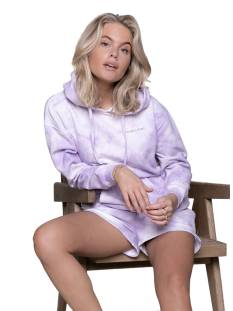 Colourful Rebel 10164 TIE DYE OVERSIZED HOODIE Hoodies lilac/off white