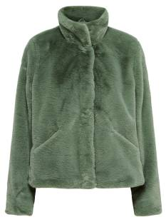 Only ONLVIDA FAUX FUR JACKET Groen