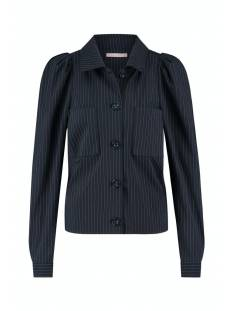 Studio Anneloes Robine pinstripe jacket 05311 Jack 6911 dark blue/off white