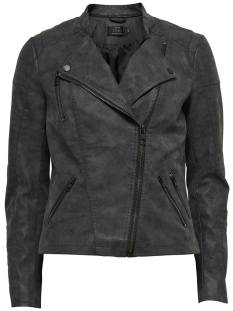 Only Jas Only ONLAVA FAUX LEATHER BIKER Leer en leatherlook black 15102997