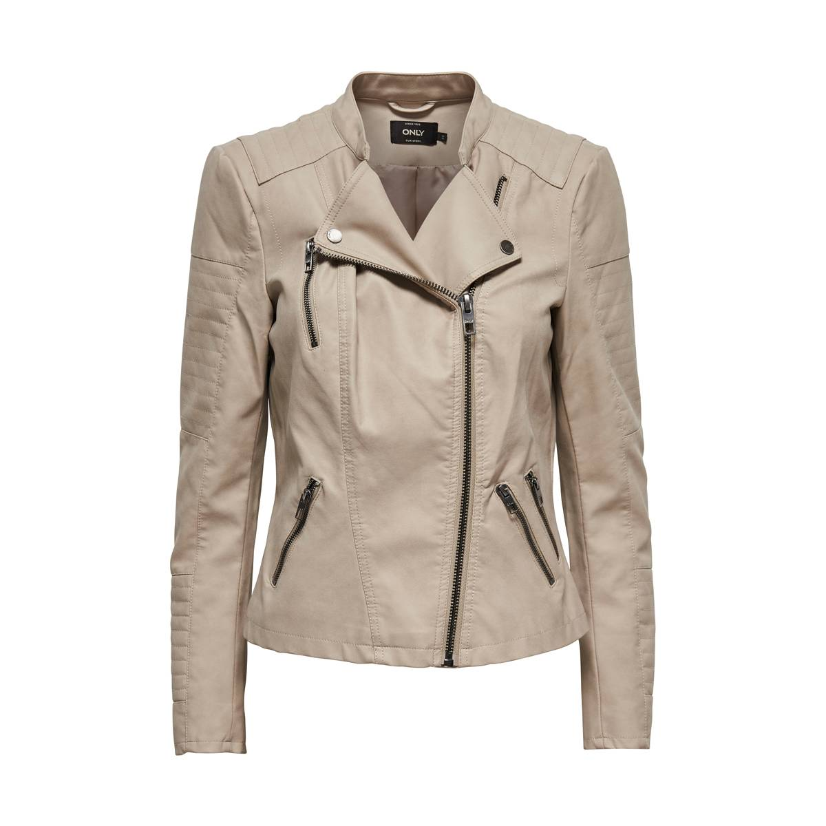 Only ONLAVA FAUX LEATHER BIKER Beige