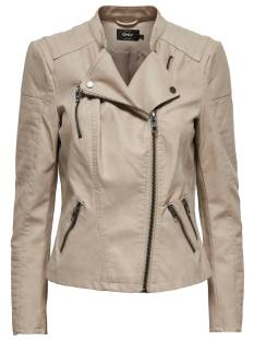 Only ONLAVA FAUX LEATHER BIKER Leer en leatherlook pure cashmere
