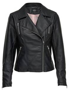 Only Jas Only ONLGEMMA FAUX LEATHER BIKER Leer en leatherlook black 15153079