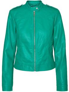 Vero Moda Jas Vero Moda VMALICE SHORT FAUX LEATHER Leer en leatherlook pepper green 10189458