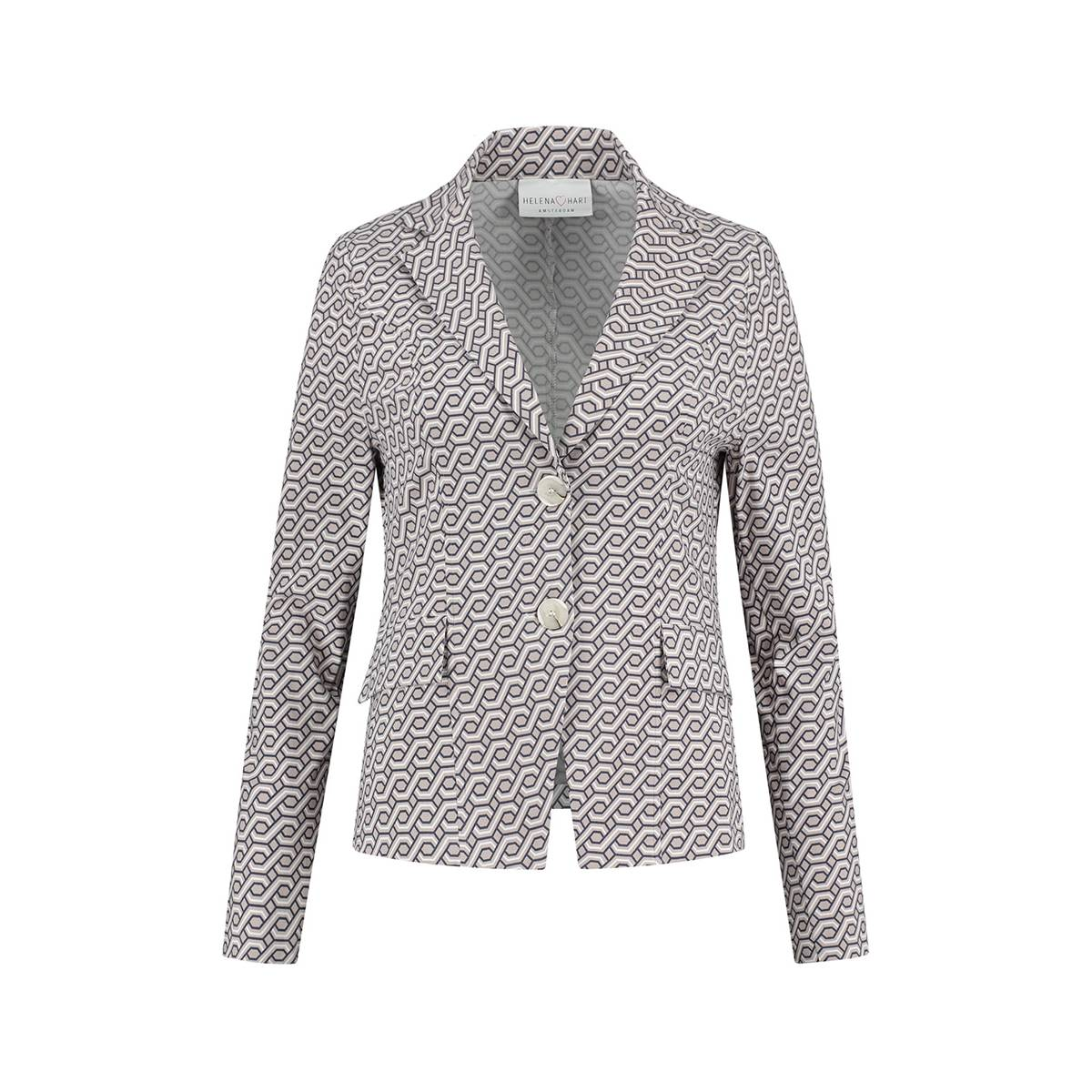 Helena Hart 7223ABS BLAZER LARA ABSTRACT Ecru