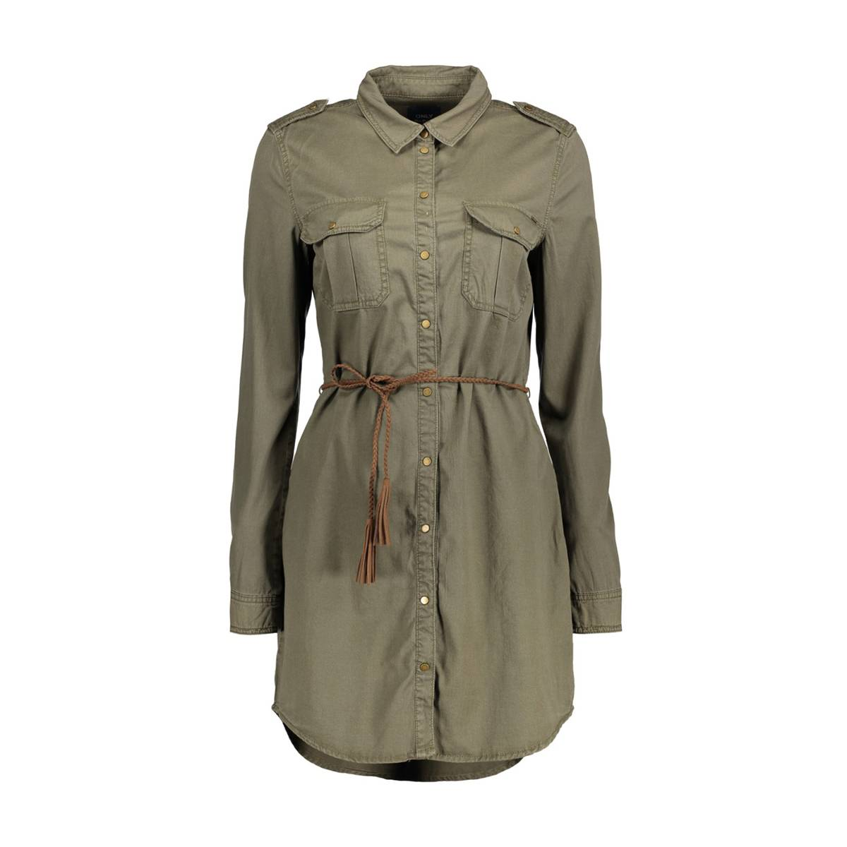 Only ONLNEVADA SHIRT DRESS PNT Groen