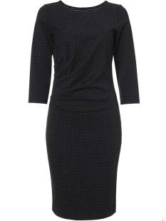 Tramontana Jurk Tramontana C14-84-501 DRESS WHITE DOTS Jurk 9000 black