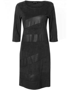 Tramontana Jurk Tramontana Q07-84-501 DRESS STRIPES COATED Jurk 9000 black