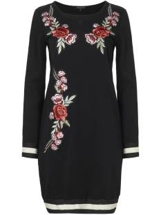 Tramontana Jurk Tramontana Q04-85-502 DRESS SWEAT FLOWER Jurk 9000 black