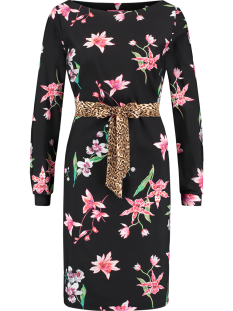 Studio Anneloes Jurk Studio Anneloes FLEX FLOWER DRESS 01635 Jurk 9075 black/apple green