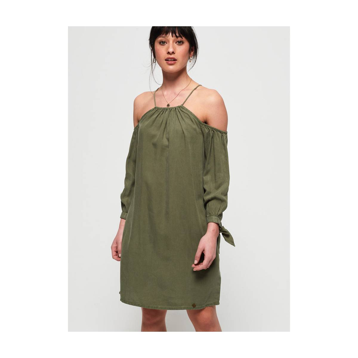 Superdry G80102JT EDEN COLD SHOULDER Groen