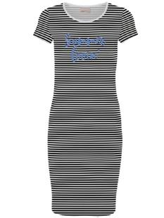 Vero Moda Jurk Vero Moda VMJACINTA SS SHORT DRESS STRIPE Jurk black print summer 10219116