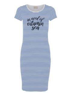 Vero Moda Jurk Vero Moda VMJACINTA SS SHORT DRESS STRIPE Jurk granada sky in need 10219116