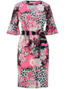 Studio Anneloes Jurk Studio Anneloes LOTA FLOWER RUFFLE DRESS 03429 Jurk 5690 pink/black