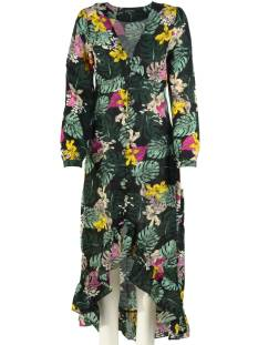 Colourful Rebel Jurk Colourful Rebel MEGAN DARK TROPICAL DRESS Jurk black