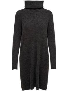 Only Jurk Only ONLJANA L/S COWLNCK DRESS Jurk dark grey melange 15140166