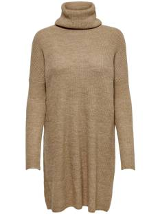 Only Jurk Only ONLJANA L/S COWLNCK DRESS Jurk indian tan 15140166