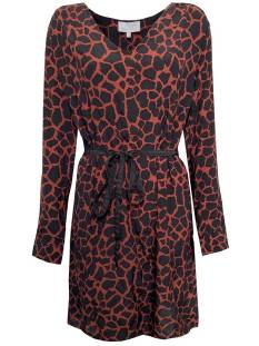 Elvira Jurk Elvira E5 19-028 DRESS LIV Jurk 669 dark brique giraffe