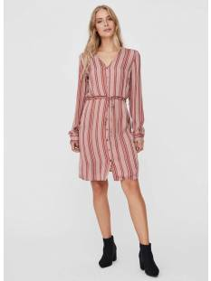 Vero Moda VMJUNA L/S KNEE SHIRT DRESS WVN Bruin
