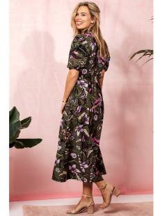 Studio Anneloes Jurk Studio Anneloes Windy botanic dress 04328 Jurk 7790 army/black
