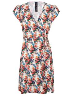 Jane Lushka Jurk Jane Lushka UG920SS04233 Joanne Dress Flower Jurk 001/270 white/red