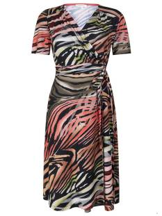 Tramontana Jurk Tramontana D10-95-502 DRESS WRAP FLAMED Jurk 9998 print blacks