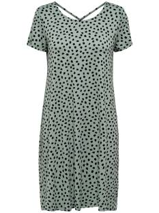 Only Jurk Only ONLBERA BACK LACE UP S/S DRESS Jurk chinois green dots 15131237