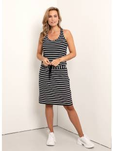 Studio Anneloes Jurk Studio Anneloes Cloud viscose stripe dress 04704 Jurk 6900 dark blue
