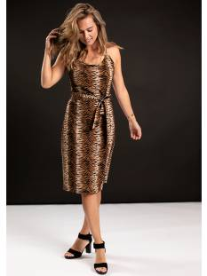 Studio Anneloes Jurk Studio Anneloes Tilda tiger dress 04773 Jurk 8490 camel/black