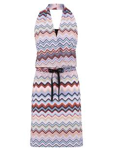 Studio Anneloes Jurk Studio Anneloes Mandy missoni halter dress 04844 Jurk 3368 terra/skyblue