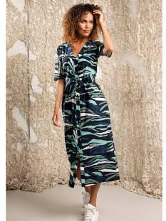 Studio Anneloes Jurk Studio Anneloes Cinta big camo dress 04860 Jurk 6979 darkblue/meadow green