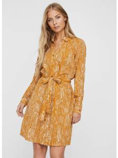 Vero Moda VMVIBE LS SHORT SHIRT DRESS Geel