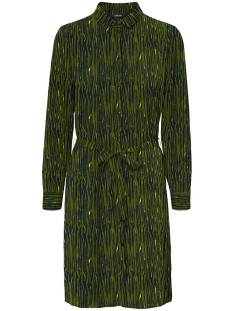 Vero Moda VMSAGA LS ABK COLLAR SHIRT DRESS Jurk fir green selma 10234360